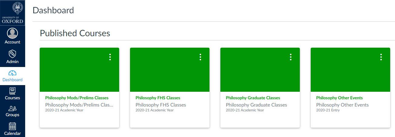 canvas courses